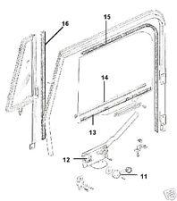 JEEP CJ CJ7 CJ8 WRANGLER YJ 82-95 4 PC DOOR GLASS BELT WIPE SEAL KIT, MOVEABLE