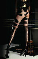 Ballerina 48 Luxury Fine Stockings Hold Ups Lace Top Tights Black Size S M L XL