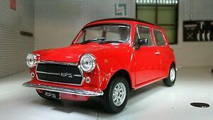 1:24 Scale Model Austin Rover Mini Classic Cooper Red 1973 Diecast Detailed