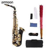 ammoon Eb Alto Saxophone Brass Lacquered E Flat Sax Woodwind Instrument I0A6
