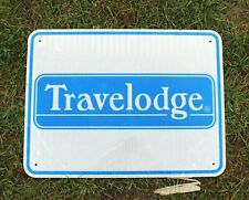Authentic Retired Michigan Highway Road Sign - Travelodge Hotel, Man Cave