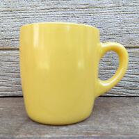 Vintage Hazel Atlas Platonite Milk Glass Fired-On Maize Yellow Mug or Coffee Cup