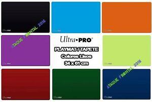 PLAYMAT / TAPETE COLOR ULTRA PRO 61x34 CM CARTAS MAGIC, YUGIOH - ELIGE TU COLOR