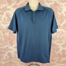 Alpine Design Polo Shirt Mens M Medium Short Sleeve Dri Logic Blue