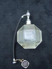 Vaporisateur parfum cristal taillé facettes Marcel Franck vers 1930