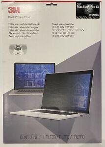 "NEW Genuine 3M Privacy Filter for 13"" Apple MacBook Pro - PFNAP005 -  2016+ NIB"