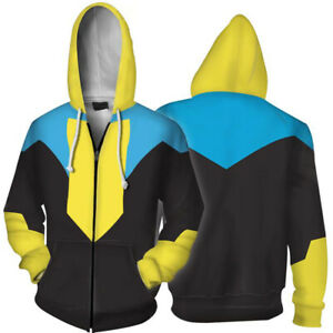 Invincible Cosplay Mark Grayson Hoodie Costume Zip up Jacket Sweatshirt Gift