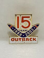 Lapel Pin Outback Steakhouse 15 Years 1988 2003 Boomarang