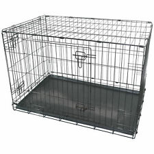 "Marko Pet Accessories Black Metal Folding 36"""" Pet Crate Dog Crate Cage"