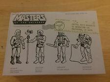 Super 7 SDCC 2015 Master of the Universe Prototype Figures He-Man MOTU MATTEL