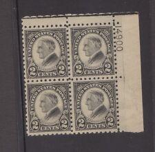 US sc#612 mint pl#14900 block of 4 perf 10 Harding nh og f/vf 1923 clean & fresh