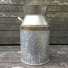 Large Antique Vintage Style Metal Milk Churn Garden Planter Vase Wedding Decor
