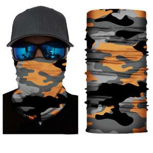 Face Mask Seamless Scarf Neck Gaiter Balaclava Fishing Hunting Bandana Headband