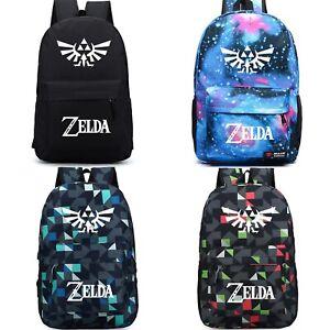 The Legend of Zelda Backpack Student Book Schoolbag Mochila Laptop Travel Bag