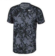 Nike Mens Hypercool Fiited Splinter Short Sleeve Top Cool Grey/Black Medium