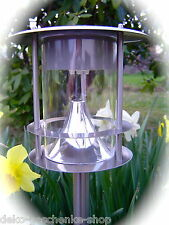 LED acero inox. Solar Linterna Lámpara decorativa con 6 muy luminoso 64 cm 231