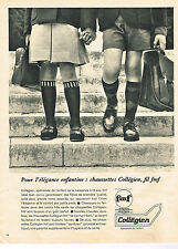 PUBLICITE ADVERTISING 024   1965   COLLEGIEN   chaussettes