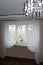 Rideau prêt à poser en voile Set Beau AG10 moderne blanc fenêtre