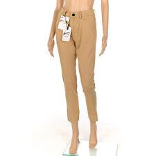 Denham Trousers Sand Brown Cropped Cotton Size W 28 L 30 SW 382