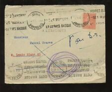 FRANCE 1932 COVER ARGENTIERE BIARRITZ RETURN to SENDER