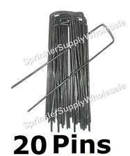 Anchor Pins for Frost Cloth, Weed Mat, Drip Tubing, Freeze Blanket - sod staples