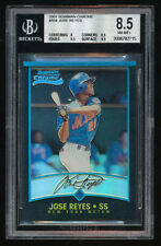 JOSE REYES 2001 BOWMAN CHROME REFRACTOR ROOKIE CARD #164 GRADED BGS 8.5 BECKETT