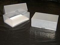 BUSINESS CARD BOXES PLASTIC CRAFT BOX HOLDER STORAGE BOX