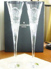 Waterford JIM O'LEARY LISMORE CELEBRATION Champagne Toasting Flutes - Set of 8