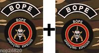 4 BOPE IRON ON POLICE TROOP BRAZIL PATCH ELITE SQUAD SPECIAL OPERATIONS NO SWAT