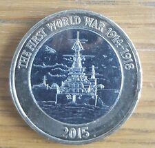 Estremamente raro di £ 2 due Pound Coin la prima guerra mondiale 1914 - 1918 coniata nel 2015