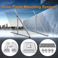 Adjustable Solar Panel Corner Mounting Brackets Kit & Cable Entry RV Roof Mount