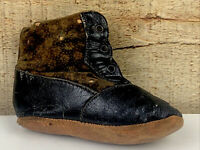 Antique Child's Baby Leather Lace Up Shoe