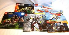 LEGO Loose Booklets Five Hobbit Hero Factory Creator Star Wars Monster Fighter