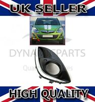 VAUXHALL CORSA D FRONT BUMPER FOG LIGHT GRILL WITH CHROME COVER RIGHT O/S 11-14