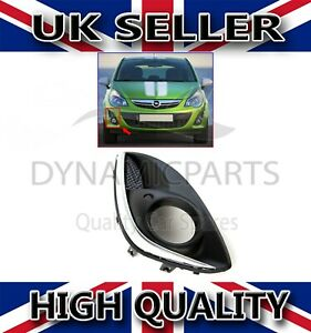 FRONT BUMPER FOG LIGHT GRILL CHROME COVER RIGHT FOR VAUXHALL CORSA D 1400867