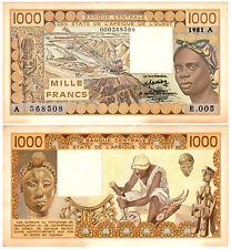 West African States 1000 Francs P#107Abx (1981) UNC