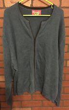 "3x Plus  58"" Bust Denim & Co Shirt Top Blouse Sweater Cardigan Hook and Eye"