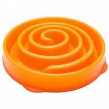 Kyjen Coral Slo-Bowl Slow Feed Fun Feeder Dog Bowls size Large Color Orange