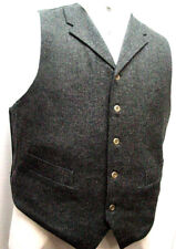 Mens Vest Old West Frontier Vintage Victorian style wool blend with pockets S-3X