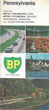 1969 BP OIL Road Map PENNSYLVANIA Allentown Scranton Philadelphia Pittsburgh