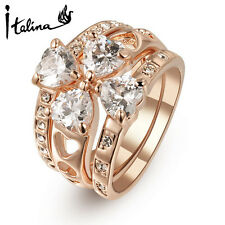 Austria Crystal Ring Wedding jewelry/3 piece rings for friends