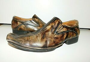Steve Madden Men's Threaten Dress Shoes Leather Loafers Size 9.5