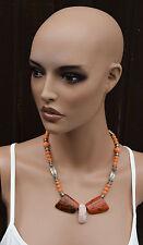 Bijouterie Halskette ähnlich Kubismus Art Deco Handarbeit Kette
