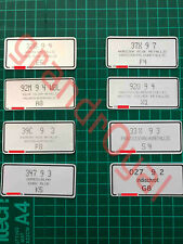 Porsche 911 928 944 924 993 ANY Paint Code Label