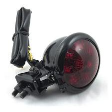 LUZ TRASERA Bates de LED Negro, cristal rojo, Para Harley - Davidson