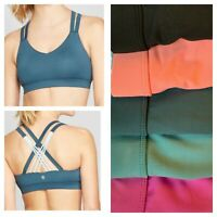 Women's Medium Support Compression Strappy Back Sports Bra ~ C9 N9798