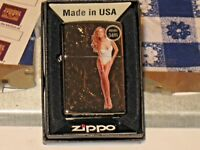 New ZIPPO Windproof USA LIGHTER Only For You Pin Up with Engrave Swirls White St