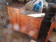 ancien meuble de metier ancien noyer tiroir a casiers panière