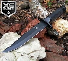"8.5"" JTEC SURVIVAL Bowie Tactical Fixed Blade Hunting Knife w/ SURVIVOR KIT"