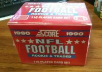 1990 Score Update Rookie & Traded Football Set Factory-Sealed Emmitt Smith RC